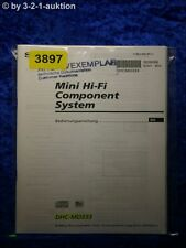 Sony Bedienungsanleitung DHC MD333 Component System (#3897)