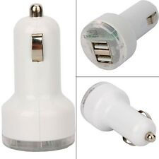 Adaptador dual cargador universal mechero coche doble blanco para iphone Samsung