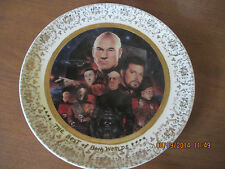 "STAR TREK ""THE BEST OF BOTH WORLDS"" PLATE 1994 THE NEXT GENERATION THE EPISODES"