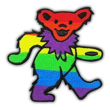 GRATEFUL DEAD Dancing Bear Heavy Metal Rock Music Embroidered Iron On Patch Band