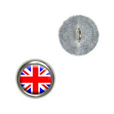 Britain British Flag - Union Jack - Metal Craft Sewing Novelty Buttons Set of 4