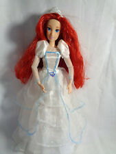 Disney Princess Ariel Little Mermaid Articulated Doll w/ Wedding Dress / Vail