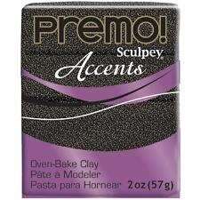 Premo! Accents Sculpey Polymer Clay 2 oz - Twinkle Twinkle Black Glitter (#5540)