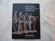 FINE CHINESE WORKS OF ART AND SNUFF BOTTLES  Catalogue Sotheby's, New york, 1999