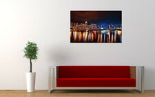 """SINGAPORE NIGHTSCAPE ART PRINT POSTER PICTURE WALL 33.1"""" x 20.7"""""""