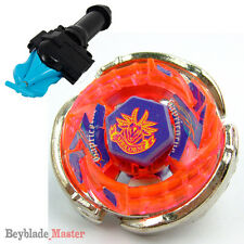 Fusion METAL Beyblade Masters BB-50 SCAPRICORNE+BLUE STRING LAUNCHER+GRIP