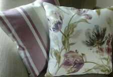 Laura Ashley Gosford Plum & Awning Stripe Grape Fabric Cushion Cover