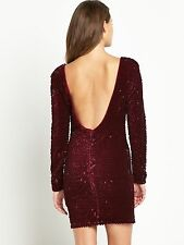 BNWT LIPSY WOMENS LUXURY MCIHELLE KEEGAN ALL OVER SEQUIN DRESS SIZE 10 RRP£110