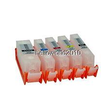5 CARTUCCE RICARICABILI CANON PGI-525 / CLI-526 STAMPANTE MG5150 AUTORESET CHIP