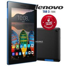 "New Unlocked LENOVO TB3-730X Black 7"" IPS LCD 4G LTE Android Mobile Phone Tablet"