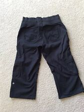 Lululemon  Dance Studio Crop Capri Pants Unlined  Black  Drawstring Size 6 EUC