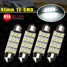 4 X 6000K White 41MM Festoon LED Dome Map Interior Lights bulb Lamp 211-2 212-2