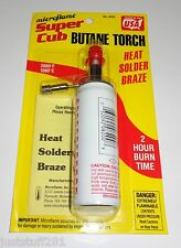 Microflame Super Cub Butane Torch, Small Portable **2 Hour Burn Time**