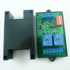 Modbus RTU & AT command 2 CH  RS485 Relay PLC Controller UART Serial port Switch
