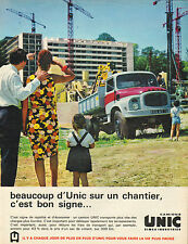 Publicité Advertising 1966  Camions UNIC simca industries