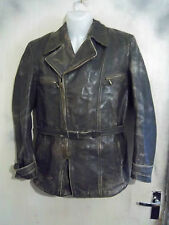 VINTAGE WW2 GERMAN LUFTWAFFE HORSEHIDE LEATHER FLYING JACKET SIZE S ZIPP ZIPS