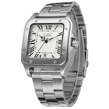 JARAGAR Luxury Men's Square Automatic Mechanical Men Stainless Steel Wrist Watch
