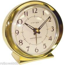 Westclox 1964 Baby Ben Classic Design Keywound Alarm Clock with Gold Tone Case