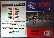 WAKEFIELD v WIDNES  23/10/88  EXCELLENT
