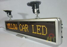 Car Yellow LED Programmable Message Sign Moving Scrolling Display board 21""