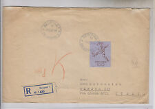 YUGOSLAVIA,OLYMPIC GAMES,100 din soccer key value,registred cover to Italy