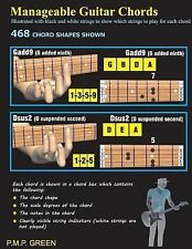 Manageable Guitar Chords : Illustrated with Black and White Strings to Show...
