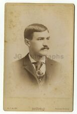 19th Century Fashion - 1800s Cabinet Card Photograph - H.F. Alley of Beverly, MA