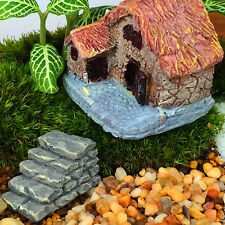 Funny Resin Crafts Fairy Garden Mini Steps Lawn Decor Stone Ladder Lovely Gnome