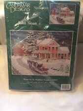Candamar 30895 Needlepoint HOME FOR THE HOLIDAYS Picture Kit Sealed – John Sloan