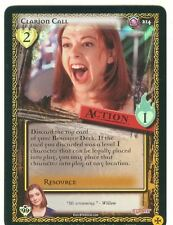 Buffy TVS CCG Limited Class Of 99 Premium Foil Card #214 Clarion Call
