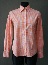 GANT Damen Bluse 36 , UK 10 kariert orange Hemd Shirt Baumwolle !6