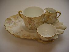 Deliniers & Co. Limoges Bisque Tea Set, 4 Pieces, VGC