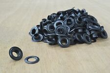 "144 pk BLACK plated over Brass Size 0 Grommets with washer 1/4"" Hardware leather"