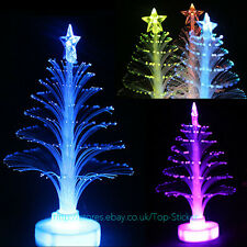 Color Changing LED Fiber Optic Nightlight Christmas Tree Lamp Light kid gift