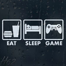 Funny Truth Of Life Motto Of Gamer Eat Sleep Game Car Decal Vinyl Sticker