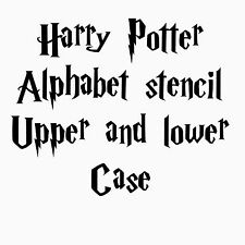 Plantilla de letras del Alfabeto Stencil Harry Potter Banner Pintura Artesanía Aerógrafo