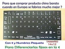Traducción Pegatinas teclado español spanish keyboard sticker 14x12 negras