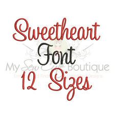 Sweetheart Machine Embroidery Font - 12 Sizes - IMPFCD37