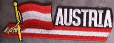Embroidered International Patch National Flag of Austria NEW streamer
