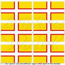 DORSET County Flag, England UK British Mobile Cell Phone Mini Stickers-Decals x6