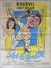 Affiche PAR LA FENETRE Gilles Grangier BOURVIL Suzy Delair 60x80cm 1948