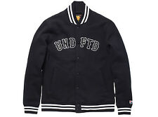 Undefeated Fleece Varsity Jacket Large Black SB Dunk Supreme Comme des garcon