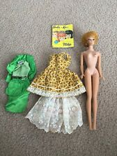 1962 Midge, 1958 Barbie With Booklet And 2 Outfits