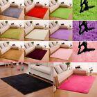 Fluffy Rugs Anti-Skiding Shaggy Area Rug Dining Room Bedroom Carpet Floor Mat MT