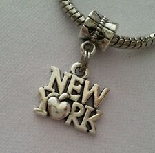 New York City Big Apple Trip Dangle Bead Fits Most European Charm Bracelet