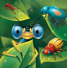 Bug Eyed Lunch Napkins (16) - Boys Insect Themed Birthday Party Supplies