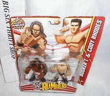 WWE Rumblers Booker T and Cody Rhodes 2 Pack Mattel Mini Action Figures