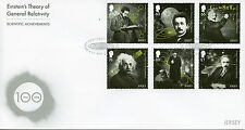 Jersey 2016 FDC Einstein Theory General Relativity 6v Set Cover Science Stamps