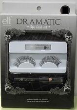elf DRAMATIC 3PC COSTUME EYELASHES Cosmetics False Adult Women Diva Black Lash
