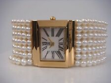 ESQ DRESS BELLINA MOP DIAL WHITE PEARLS BRACELET WOMEN'S WATCH 07101001 NEW